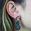 Thumbnail: Spiralli Coated Druzy   Fancy Dropper Earrings