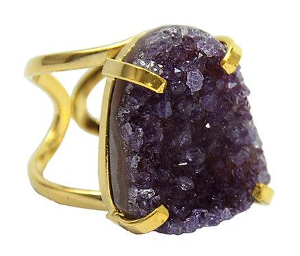 Amethyst   Arc Ring