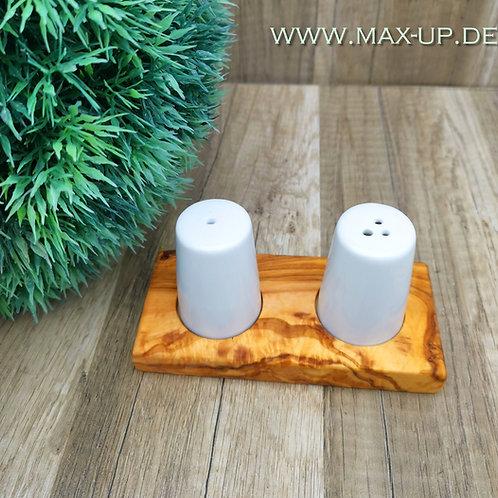 Salz & Pfefferstreuer aus Keramik & Olivenholz