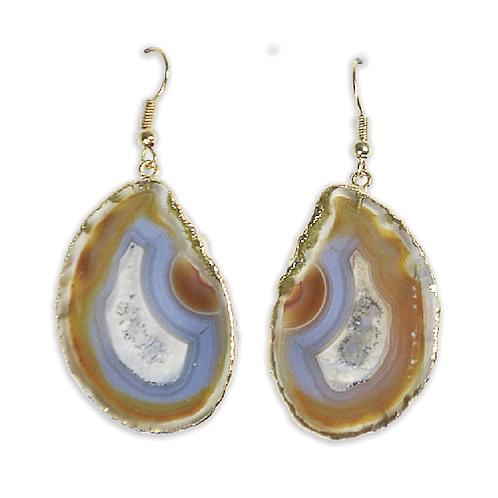 Agate Slice | Hook Earrings