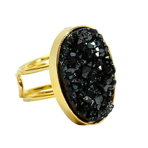 Coated Druzy | Wire Ring