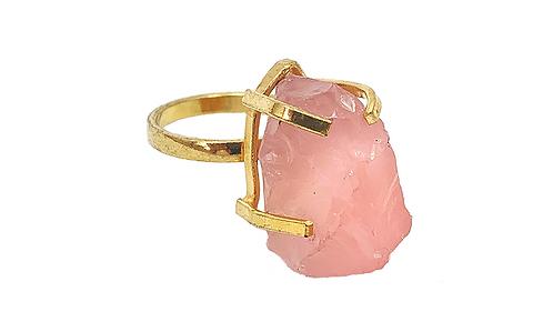 Rose Quartz | Simple Band Ring