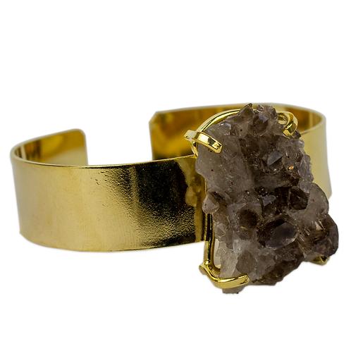 Smokey Crystal | Cuff Braceletes