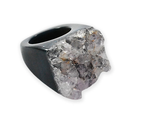Crystal Cluster   Carved Rings