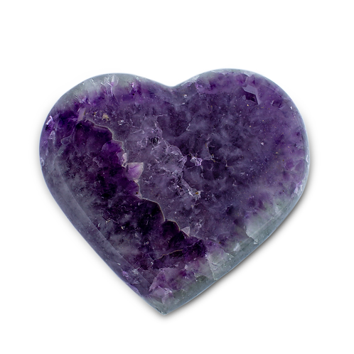 Polished Amethyst Heart   Minerals