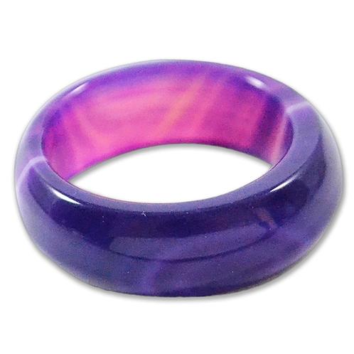 Purple Agate   Wedding Rings