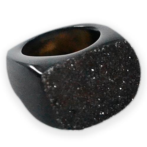 Black Druzy | Druzy Rings