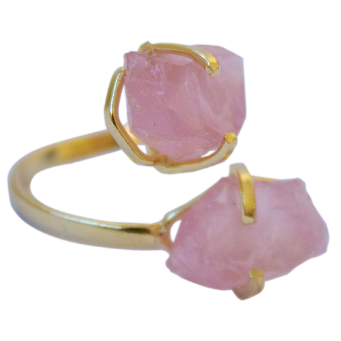Rose Quartz | Dual Rings