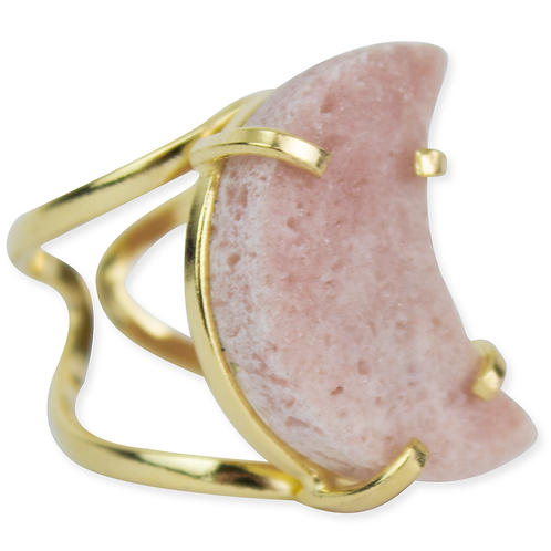 Pink Amethyst (Moon) | Arc Ring