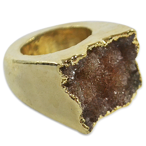 Natural Agate Druzy | Body Plated Rings