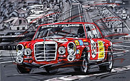 Mercedes 300SEL AMG #35_Red Sow_SPA 1971