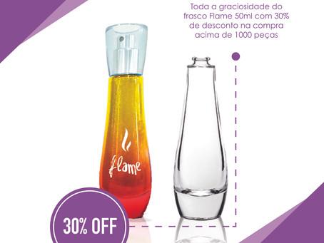 Promoção! Oportunidade imperdível de adquirir o frasco Flame!