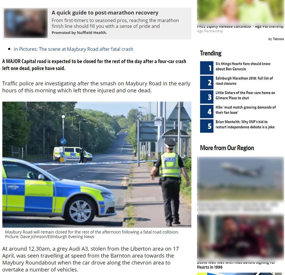 Edinburgh Evening News Online, Friday 25