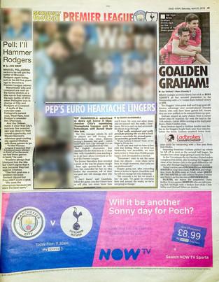 Daily Star Scotland, Saturday 20th April