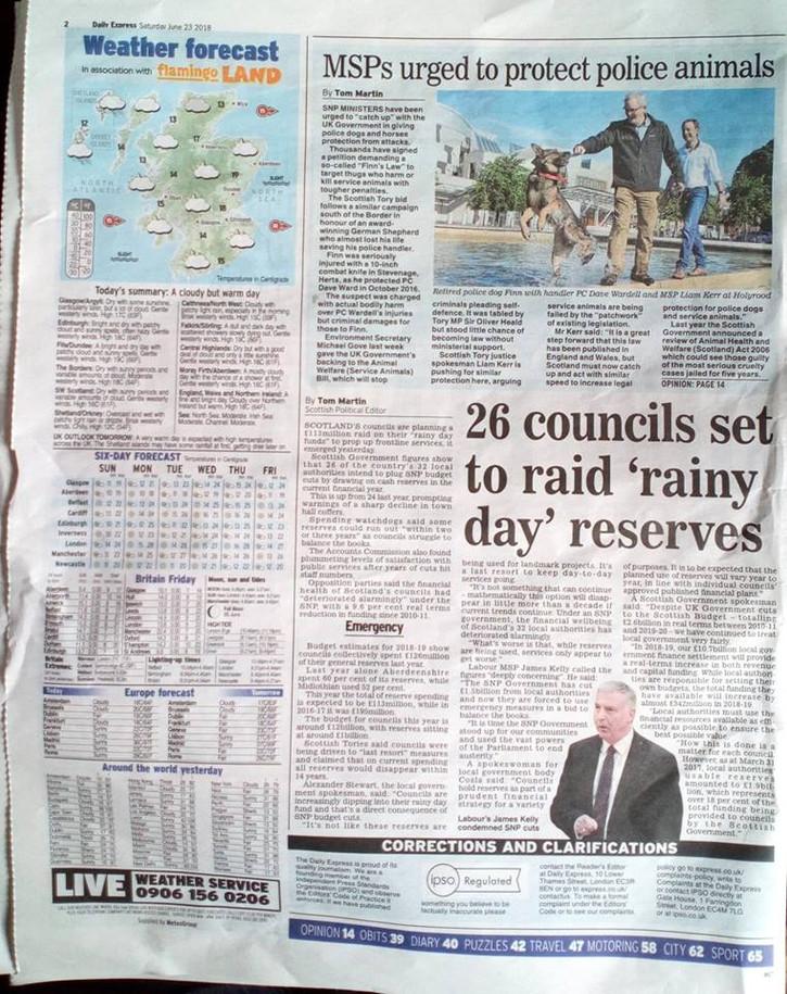Scottish Daily Express, Saturday 23rd Ju