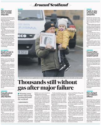 The Scotsman, Tuesday 3rd December 2019,