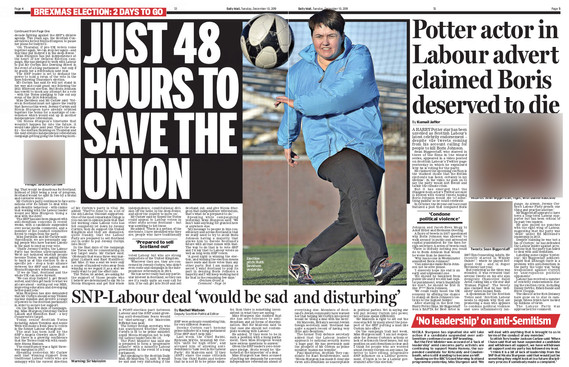Scottish Daily Mail, Tuesday 10th Decemb