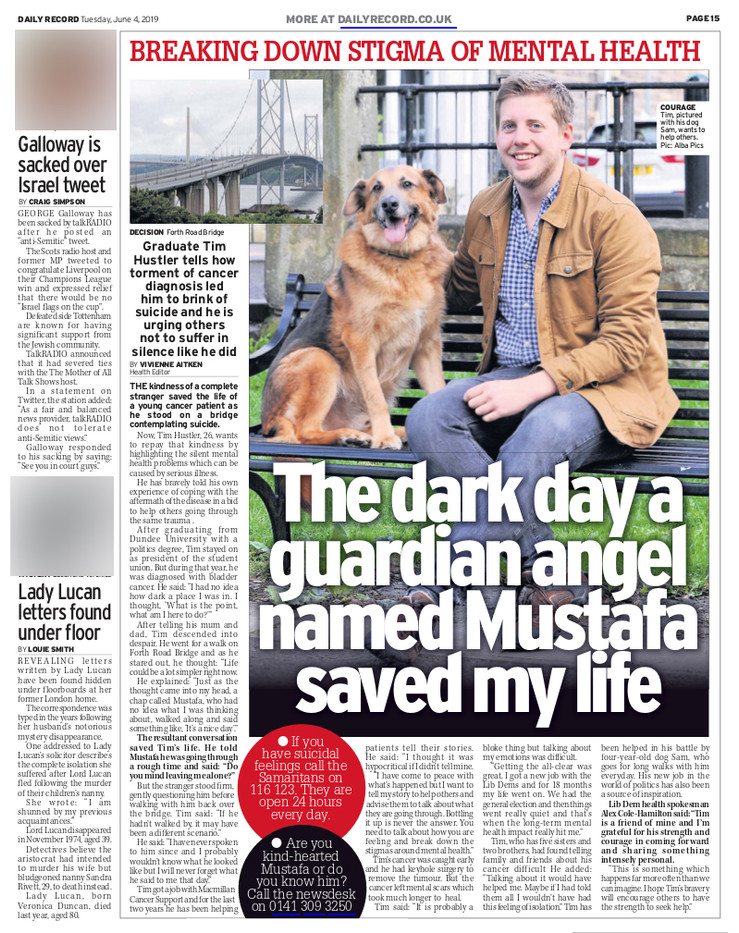 Daily Record, Tuesday 4th June 2019, pg