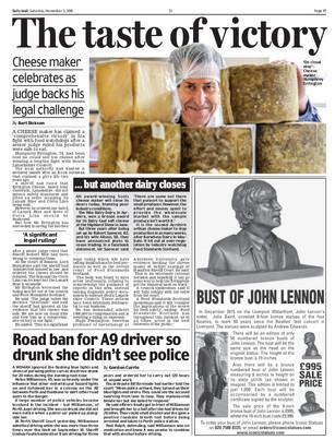 Scottish Daily Mail, Saturday 3rd Novemb