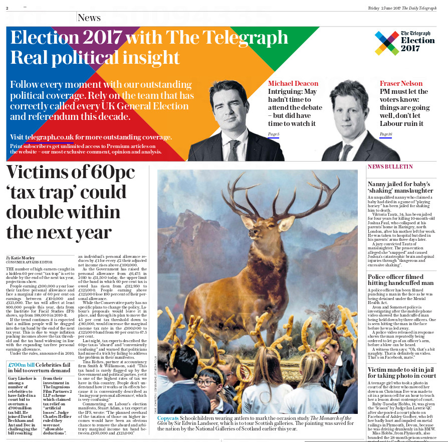 Daily Telegraph, Friday 2nd June 2017.jp
