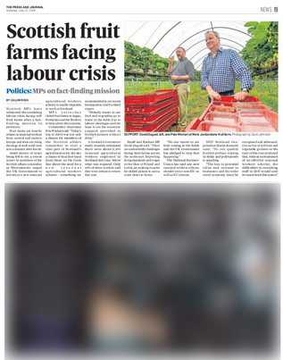Press & Journal, Saturday 21st July 2018
