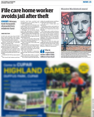 The Courier, Saturday 16th June 2018, pg