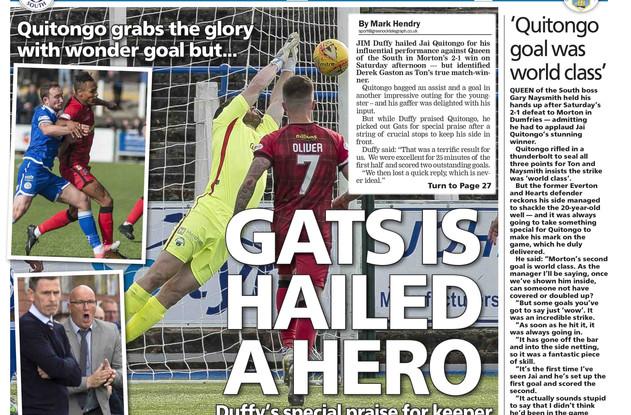 Greenock Telegraph 18th September 2017 b