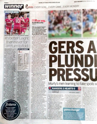 Daily Record, Monday 26th February 2018,