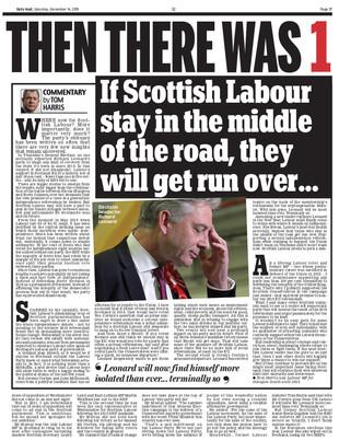 Scottish Daily Mail, Saturday 14th Decem