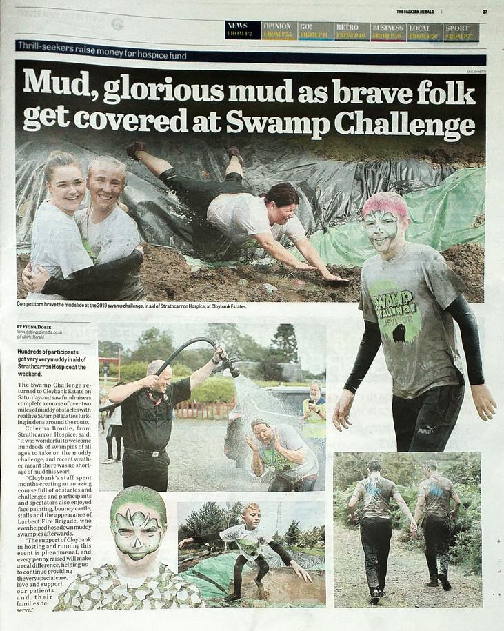 Falkirk Herald, 29th August 2019, news p