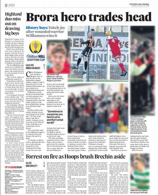 Press & Journal, Monday 22nd January 201