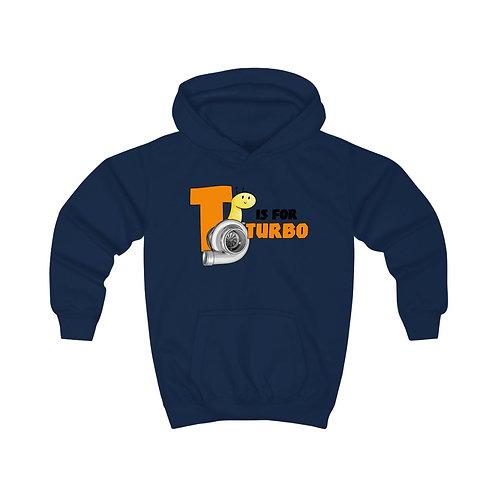 T is for Turbo Kids Hoodie