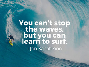 """You can't stop the waves, but you can learn how to surf"""
