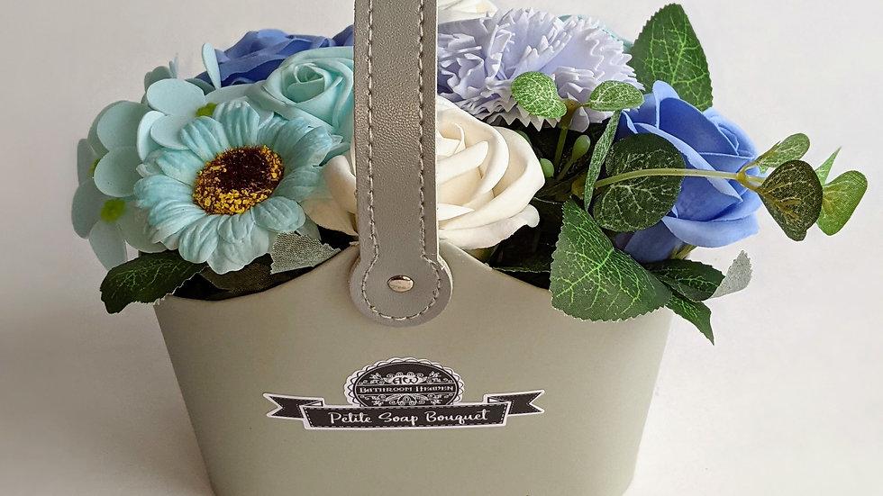 Bouquet Petite Soap Basket, soothing blues