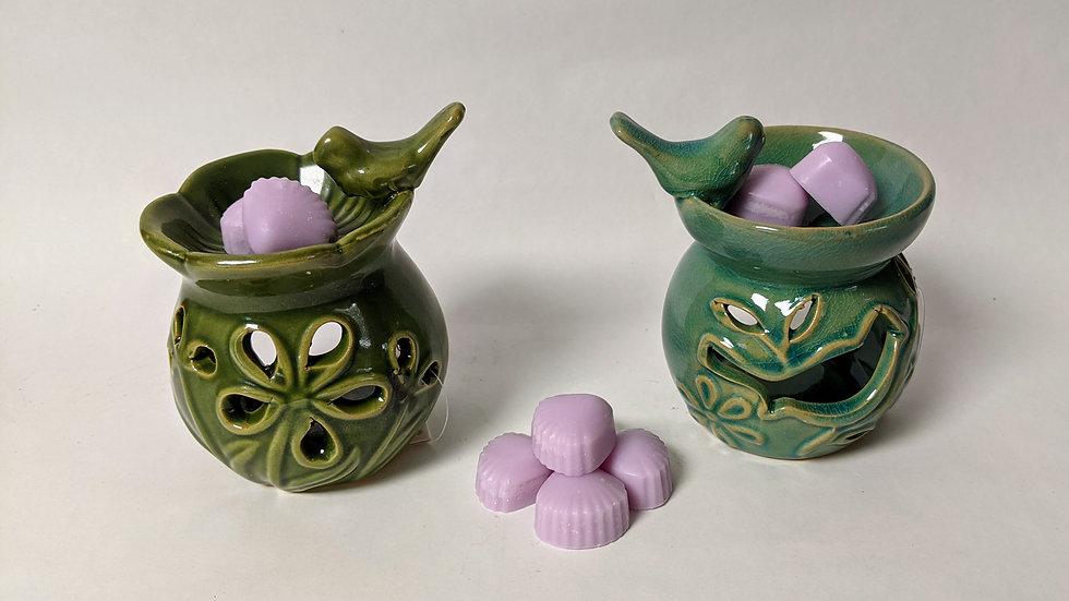 Floral Bird Bath Wax Melter