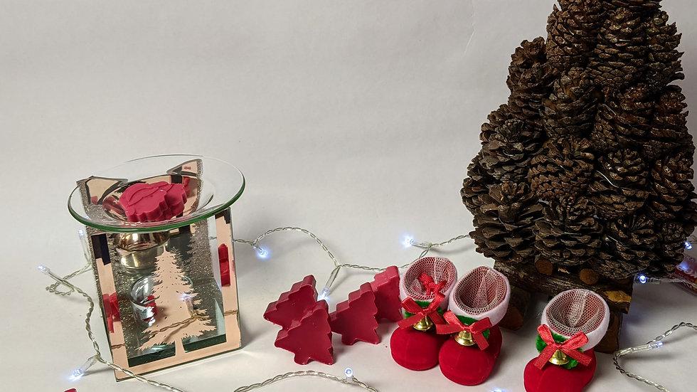 Rose Gold Fir Tree Glass Wax Melter