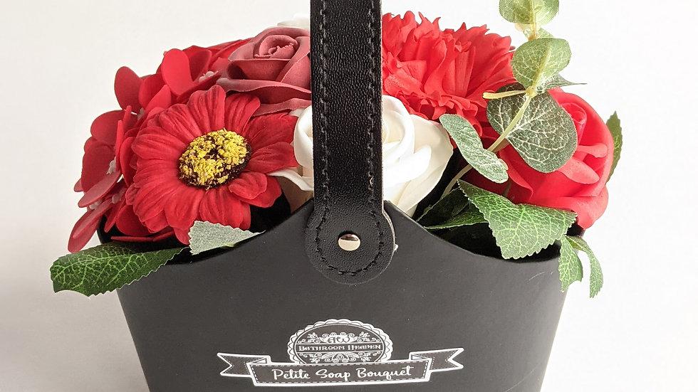 Bouquet Petite Soap Basket, rich reds