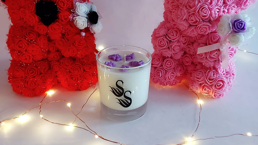 Roses Teddy & Christmas Scented Candle