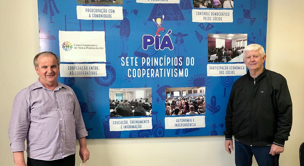 Presidente e Vice-Presidente da Piá, Jeferson Smaniotto e Darcisio Inácio Braun. Crédito: Miron Neto.