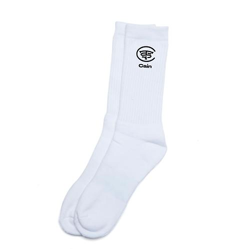 Cain White Sport Socks