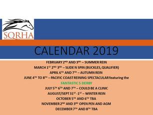 SQRHA CALENDAR 2019