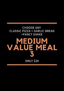 Plain Jane Medium Value Meal 3