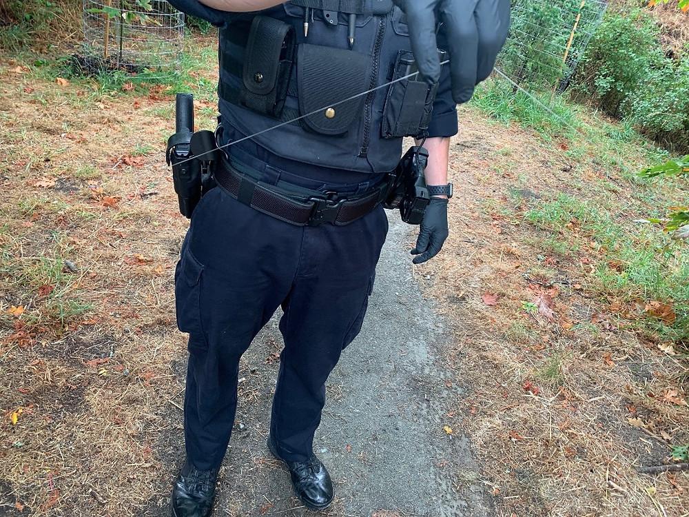 警方在维多利亚地区公园中发现的绊线