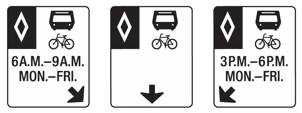 维多利亚公交专用道标志