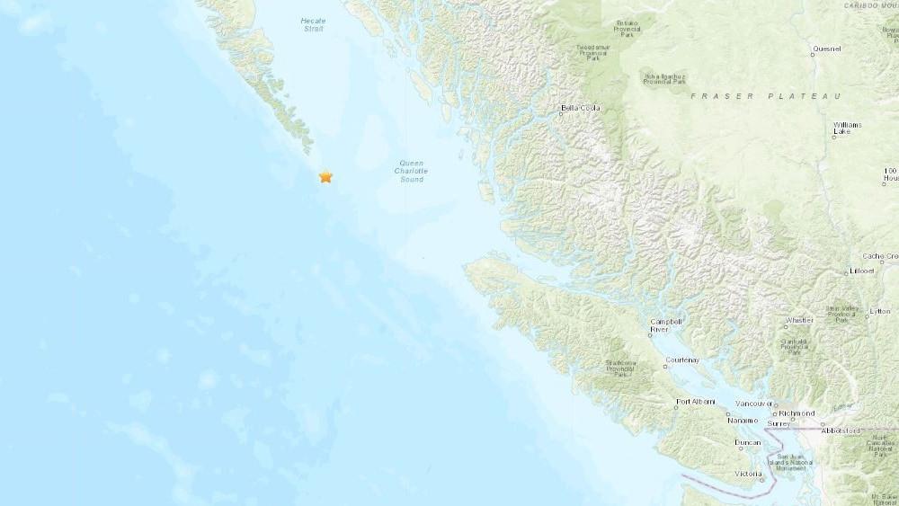 又有地震,离温哥华岛更近!