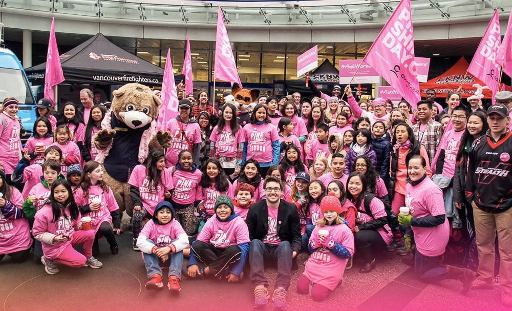 """反欺凌""""粉衫日"""":你穿粉色了吗? 图片来源:Pink Shirt Day"""