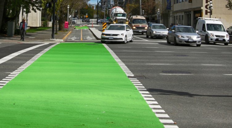 温哥华岛上的自行车道