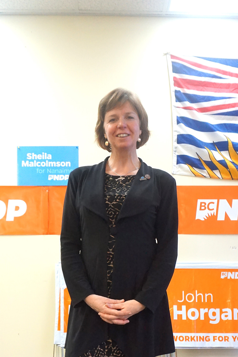 BC省执政党尖峰时刻的关键人物纳奈莫选区候选省议员Sheila Malcolmson