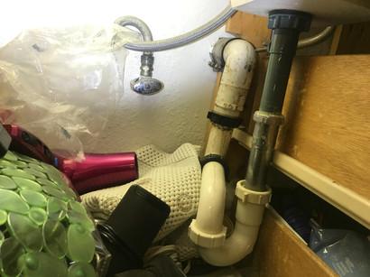 my favorite gravity defying DIY plumbing job