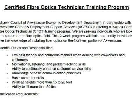Certified Fibre Optics Technician Training Program 2020